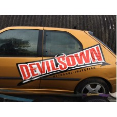 Devilsown Car Side (both) logo graphic