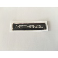 Domed methanol sticker