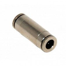 Metal straight 1/4 tube to 1/4 tube instant fitting